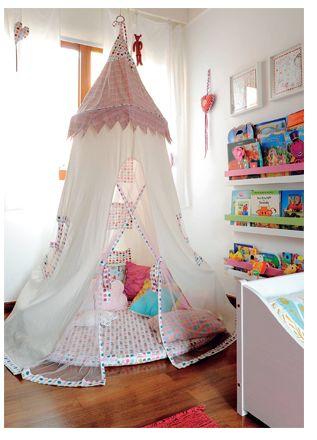 Tenda de bambolê infantil