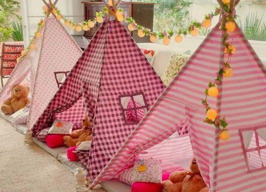 Decoração da Moda: Tendas e Barracas para as Festinhas da sua Menina