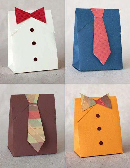 Sacola de gravata para o Dia dos Pais