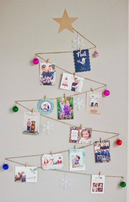 Árvore de natal com cartões