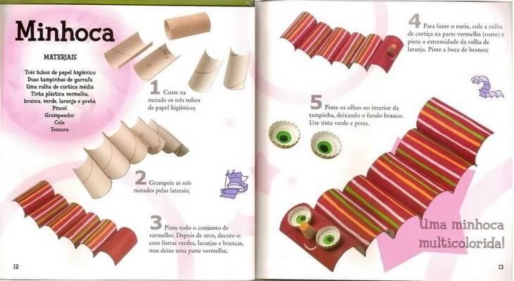 Manual de como montar uma minhoca divertida