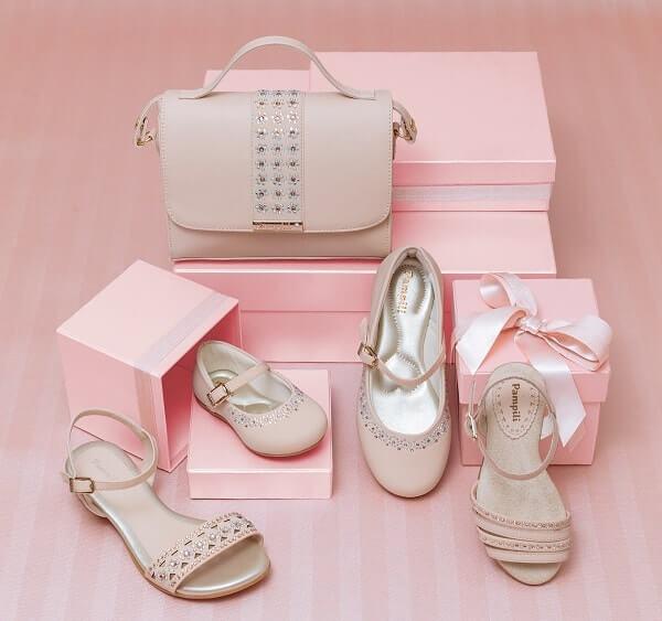 Sapatos Rosa para o Natal