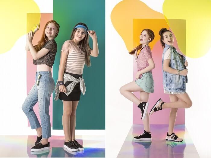 Modelos usando tênis Tweenie