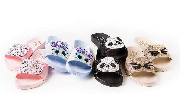 Modelos de chinelos slide Pampili